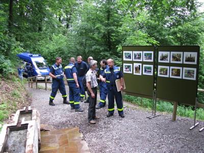 Auf einer Fotostrecke konnten sich die Anwesenden über den Wiederaufbau informieren