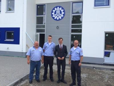 v.l.n.r.: Markus Haas, Tobias Nava, MdB Dr. Lars Castellucci, Ulrich Schaffer