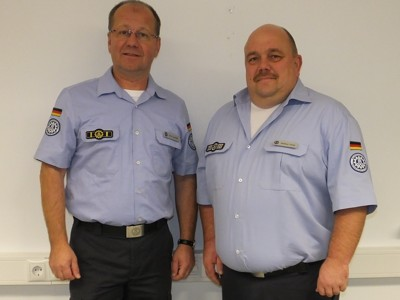 Der bisherige Ortsbeauftragte Ulrich Schaffer (links) mit seinem Nachfolger Markus Haas (rechts)