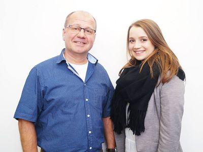 Ulrich Schaffer und Luisa Haas nach ihrer Wahl