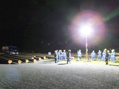 In der Eberbacher Au kam der Aldebaran zum erstem Mal bei voller Dunkelheit zum Einsatz