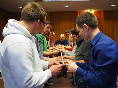 Kooperative Aufgaben lockerten den Workshop auf